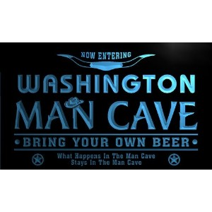 ネオンプレート サイン 電飾 看板 バー pb2074-b Washington State Cities Man Cave Cowboys Bar Neon Light Sign