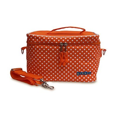 Yumbox Large Insulated Lunchbox Cooler Bag (Tango Orange with White Polka Dots) by Yumbox