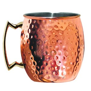 Silve One Moscow Mule Mug, 20 oz, Hammered Copper by Silve One