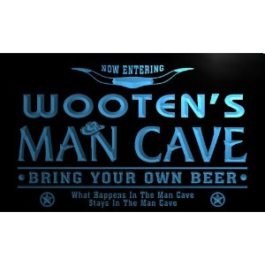 ネオンプレート サイン 電飾 看板 バー pb1986-b Wooten's Man Cave Cowboys Bar Neon Light Sign