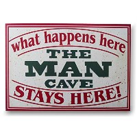 """15–3/ 4"""" The Man Cave Wall Plaque by Chesapeake Bay"""
