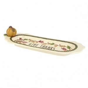 Grasslands Road Thankfulチーズトレイwith Tooth Pick Holder 464583