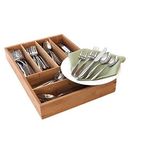 Oneida Mooncrest 65-piece Set with Bamboo Storage Caddy (Service for 12) by Oneida