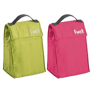 Trudeau Corporation 32208908三角形Insulated Lunchバッグin Assorted Colors 2-Pack