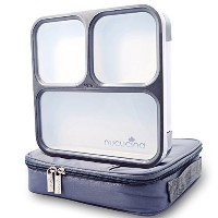 Nucucina Slim Bento Lunch Box Set - All-in-one Stylish Leakproof Food Container For Adults -...