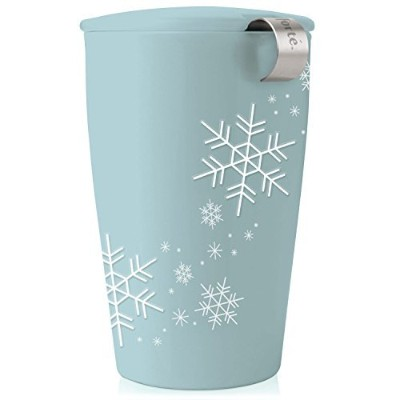 Tea Fort? KATI Single Cup Loose Leaf Tea Brewing System, Insulated Ceramic Cup with Tea Infuser and...