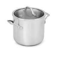 Calphalon 1948240 Signature Stainless Steel Covered Stock Pot, 8 quart, Silver by Calphalon