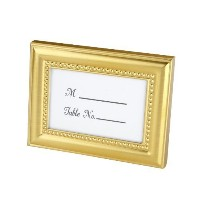 Beautifully Beaded Gold Photo Frame/Place Holder by Kate Aspen [並行輸入品]