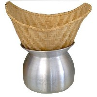Thai Lao Sticky Rice Steamer Pot and Basket Cook Kitchen Cookware Tool by Thai Kitchenware [並行輸入品]