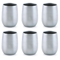Vino2Go Vacuum Insulated Double Wall Stainless Steel Lowball Wine Tumbler 9 oz by Vino2Go Lowball