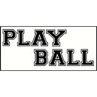 Wall Decor Plus More Play Ball Art for Kids or Teen Wall Sticker Decal 6' H Letter Black [並行輸入品]