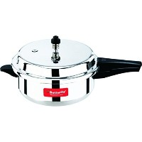 Butterfly SP-5.5L Standard Plus Wider Aluminum Pressure Cooker, 5.5-Liter by Butterfly [並行輸入品]