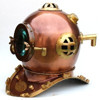 Specially Retro Design Nautical Anchor Engineering 1921 Divers Helmet Deep Copper Finish by...