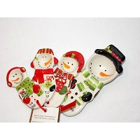 Holiday Snowman Family Measuring Spoons Baking液体4pcセット