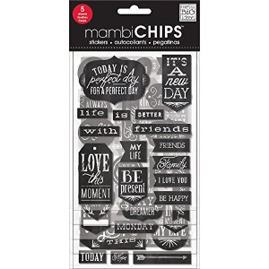 Chipboard Value Pack-Chalk- It's A New Day (並行輸入品)