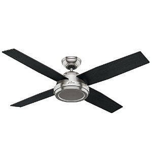 Hunter Fan Company 59249 Contemporary Dempsey Brushed Nickel Ceiling Fan With Remote, 52""