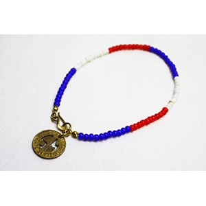 Vintage Upcycling Company (ヴィンテージ アップサイクリング カンパニー) /Limited Color Old Beads Anklet (d)