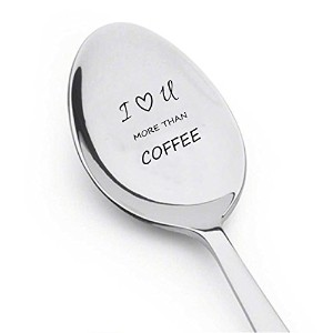 I Love You More Than coffee-銀食器スプーン–Great Gift for Men、women-perfect for theコーヒー–Engravedスプーン–...