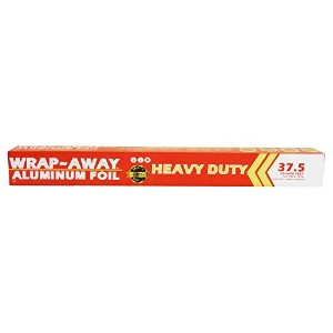 WRAP AWAY Heavy Duty Aluminum Foil, 37.5 sq. ft., 12.5 yd. x 18 L by WRAP AWAY