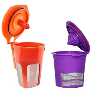 Fill N Save 2 Piece [Starter Pack] Reusable K Cup and Carafe Coffee Filter for the Keurig 2.0, K200...