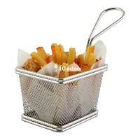 iGodee Food-grade Stainless Steel Mini French Fries Basket Fryer Basket, Kitchen Cooking Tool Food...