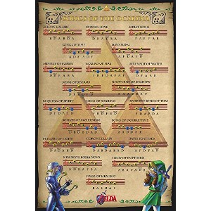 The legend of Zelda Poster Songs of the Ocarina (61cm x 91,5cm)