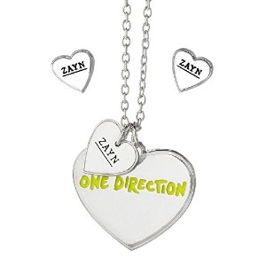 One Direction Zayn Heart Necklace and Earring Set