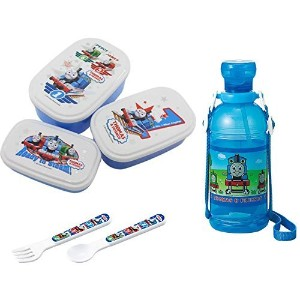 Children's Water Bottle, Three Lunch Boxe Set with Spoon and Fork - Everything Has Thomas and...