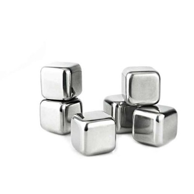 Visol 'Arctic' Stainless Steel 6-Piece Ice Cube Set, Chrome [並行輸入品]