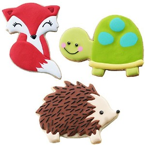 Sweet Elite Tools- Woodland Animals Stainless Steel Cookie Cutter Set: Fox, (or Raccoon and Skunk),...
