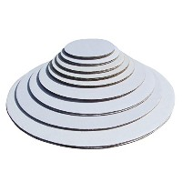 Cake Pizza and Pie Circle, Sturdy White Corrugated Cardboard, 100% Food Safe (8, 9, 10- 10 of Each)...