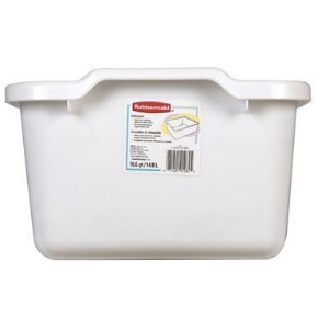 Rubbermaid - 15 White Dishpan, 15.6 Quart Capacity, Wt:1.45 lbs,FG2970ARWHT by Rubbermaid