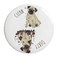 Sutter Signs Clean Dirty Dog Dishwasher Magnet (Pug) by Sutter Signs