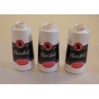 Maxi-lock White All Purpose Serger Thread 3000 Yards (Pkg of 3) by ZipperStop Wholesale Authorized...