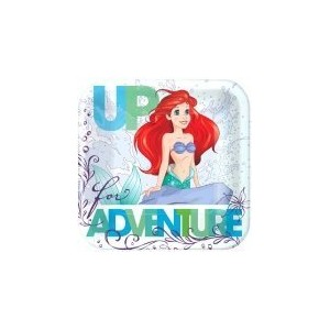 Disney Ariel The Little Mermaid Dream Big Square Plates 7 Cake Dessert Party Supplies by Amscan
