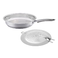 Fissler SteeluxプレミアムFry Pan with Splatter画面 One Size FISS-AMZ105BOM