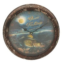 Rivers Edge Products Metal Clock, 15-Inch, Walleye by Rivers Edge Products [並行輸入品]