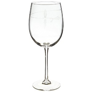 Rolf Glass Etched Fly Fishing All Purpose Large Wine Glass (Set of 4), 19 oz, Clear [並行輸入品]