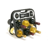 Metrokane The Wine Bar Portable Wine Rack with Built-In Tools [並行輸入品]
