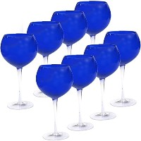 Certified International Red Wine Stemware (Set of 8), 28 oz, Cobalt [並行輸入品]