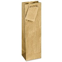 Epic Products Gold Metallic Crocodile Recycled Paper Bottle Gift Bag (Set of 12), Multicolor [並行輸入品]