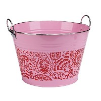 C.R. Gibson Metal Drink Bucket, Garden Spree [並行輸入品]