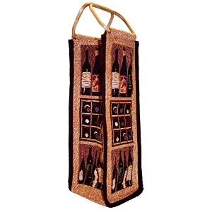 Park B. Smith Crates of Wine Single Bottle Tapestry Wine Bag [並行輸入品]