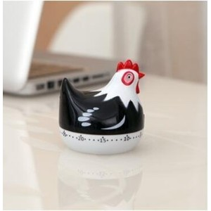 Kitchen Timer: Hen/Chicken Kitchen Timer black by shopinmall-Kitchen Timer