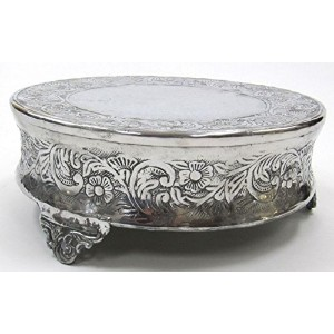 Aluminum Single-Tier Cake Stand, Round - 14 Inches - Wedding Party Cake Display by AL41811