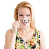 The Original Cat Beard Mug - Cute and Funny Glass Coffee Mug by Nacisse by Nacisse