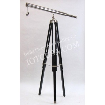 REAL SIMPLE...A HANDTOOLED HANDCRAFTED HARBOR MASTER CHROME TELESCOPE AND TRIPOD!! by Real Simple