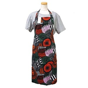MARIMEKKO(マリメッコ) エプロン PIENI SIIRTOLAPUUTAR RED 67798 APRON WHITE/RED/GREEN [並行輸入品]