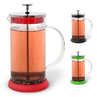 Teabloom French Tea Press 34 oz, All Glass Body Tea and Coffee Press, Stainless Steel Filter Press,...