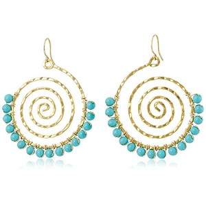 [ヨキ]Yochi Turquoise Wrap on Swirl Earrings ジュエリー[並行輸入品]